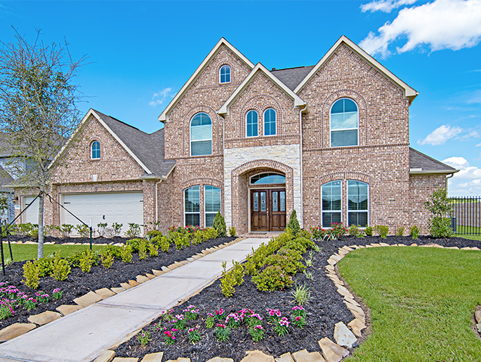 The Oxford Brick and Stone New Home Model