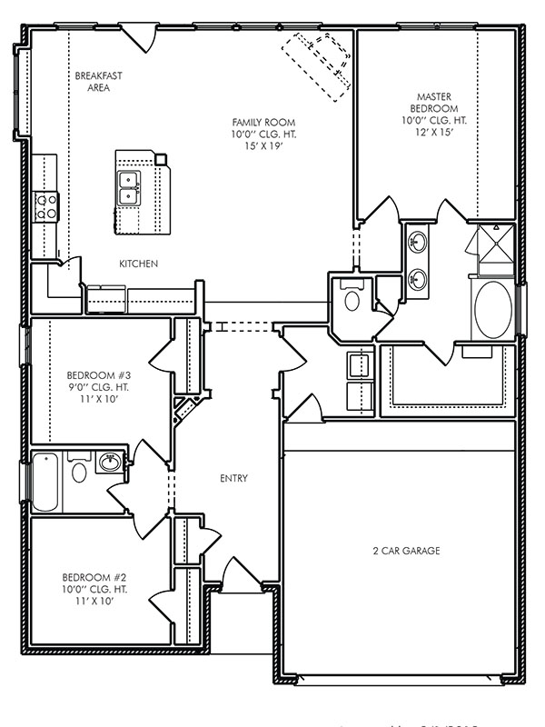 New Single Story House Plans In Panorama Village Tx The