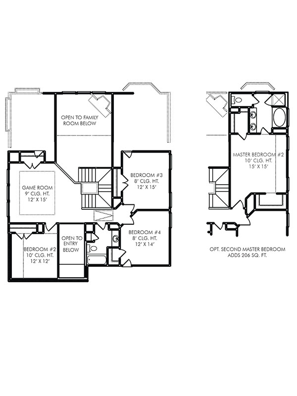 New 2 Story House Plans In Katy Tx The Chester At