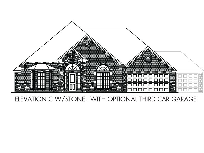 The Boxwell  - Elevation C with Stone