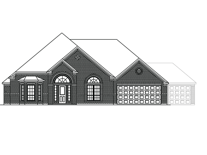 The Boxwell  - Elevation C with Optional 3 Car Garage