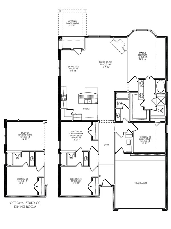 New single story house plans in kingwood tx the brighton for Brighton floor plans