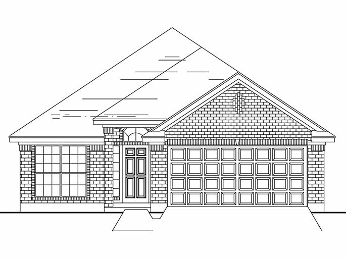 New Single-Story House Plans in Conroe TX | The Brooklands at Cedar ...