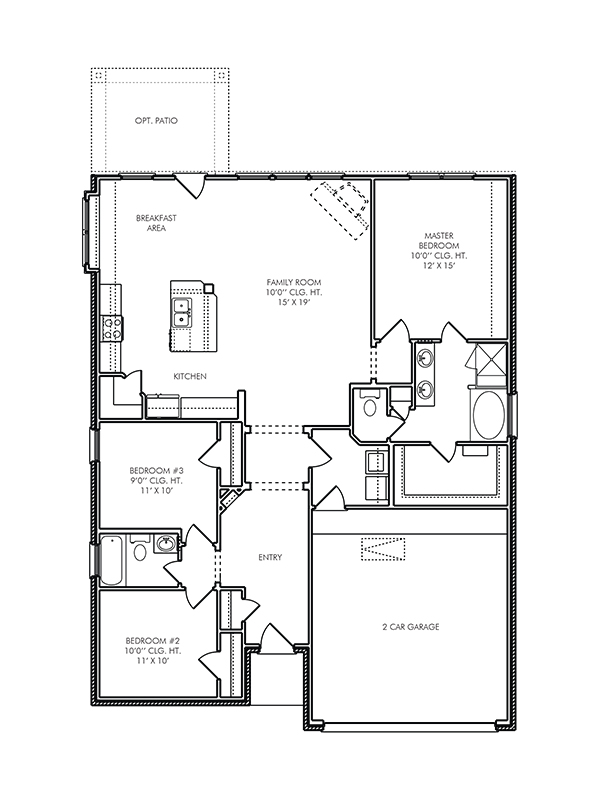 New single story house plans in kingwood tx the for Canterbury floor plan