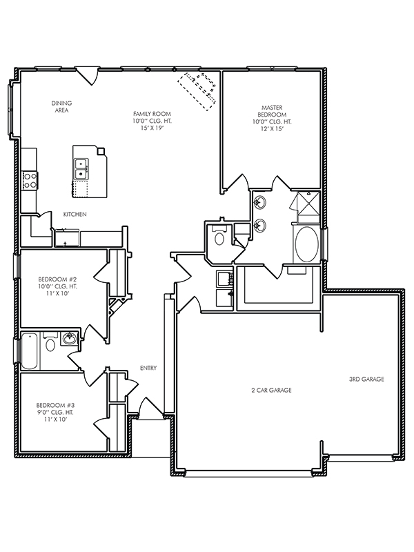 New single story house plans in conroe tx the canterbury Canterbury floor plan