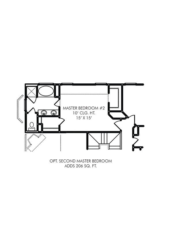 Chester Floor Plan - Optional Addition