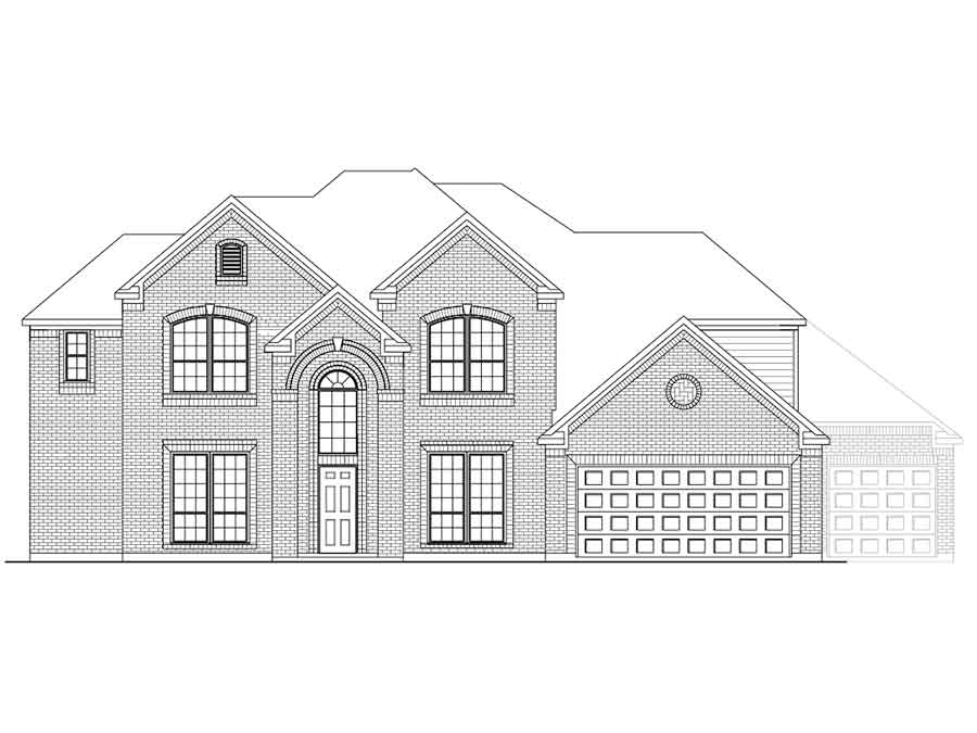 New 2 Story House Plans In Angleton Tx The Acton At Heritage Court