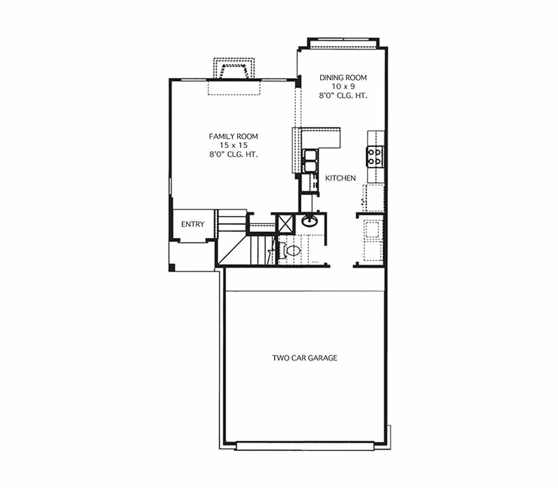The Hamilton Floor Plan - First Floor