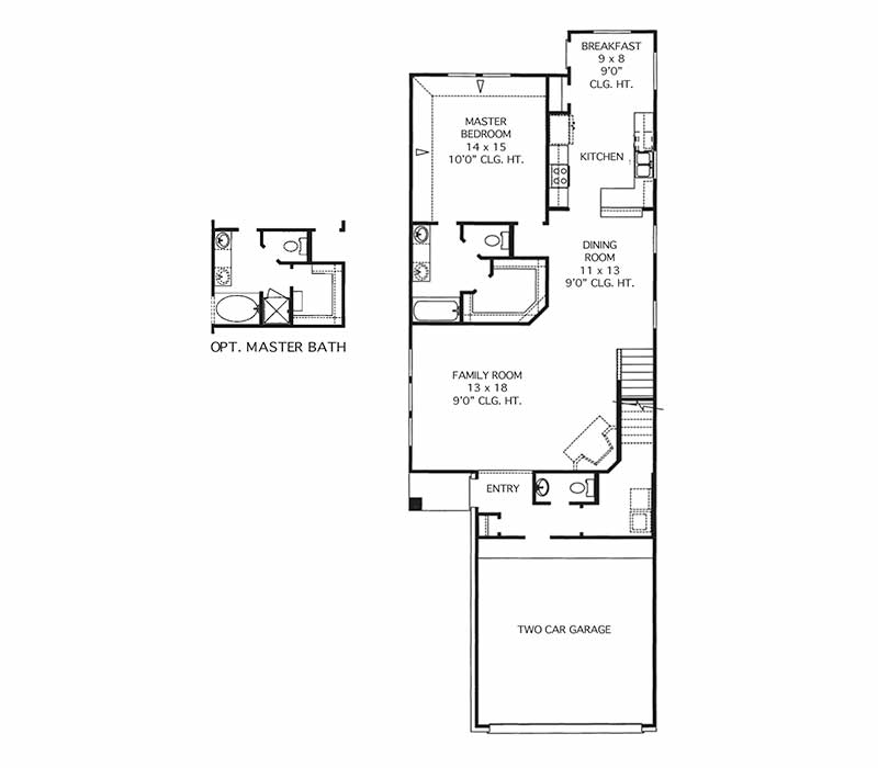 The Sterling Floor Plan - First Floor
