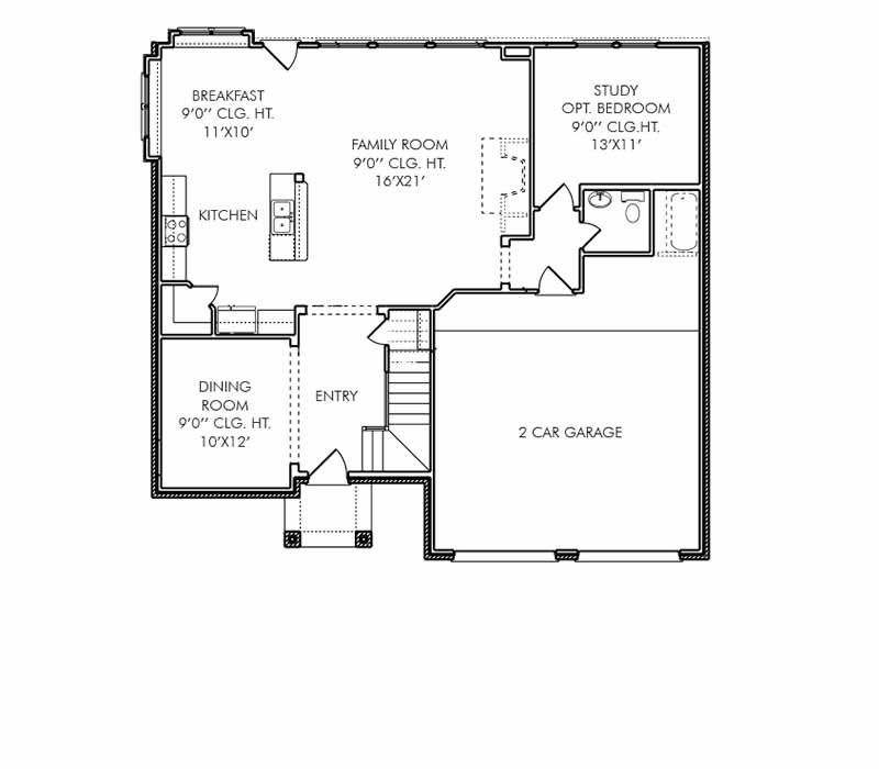 The Bristol Floor Plan - First Floor