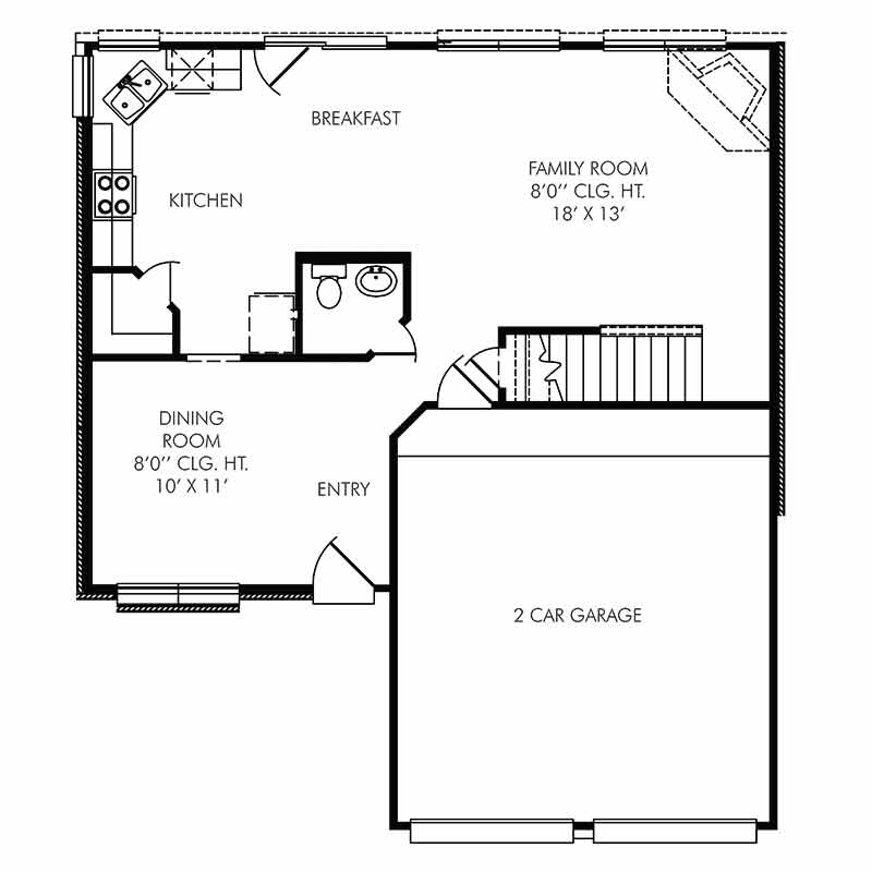 The Coventry Floor Plan - First Floor - Resized