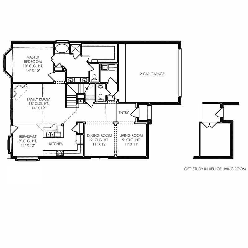 Chester Floor Plan - First Floor - Optional Addition