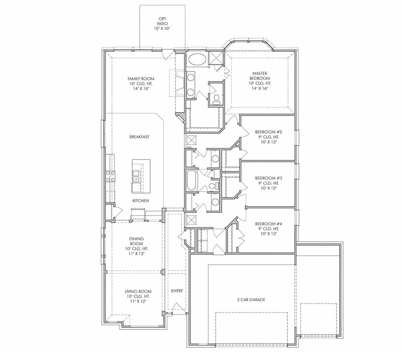 The Reading II Floor Plan