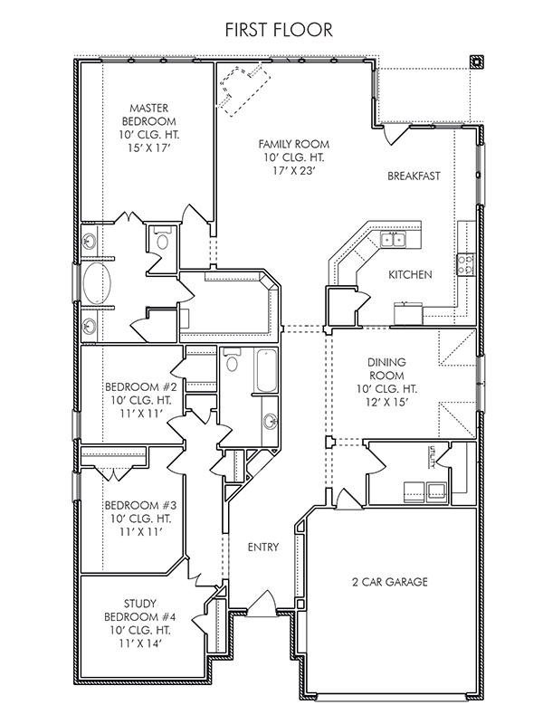New Single-Story House Plans In Katy Tx | The Gloster At Lakecrest
