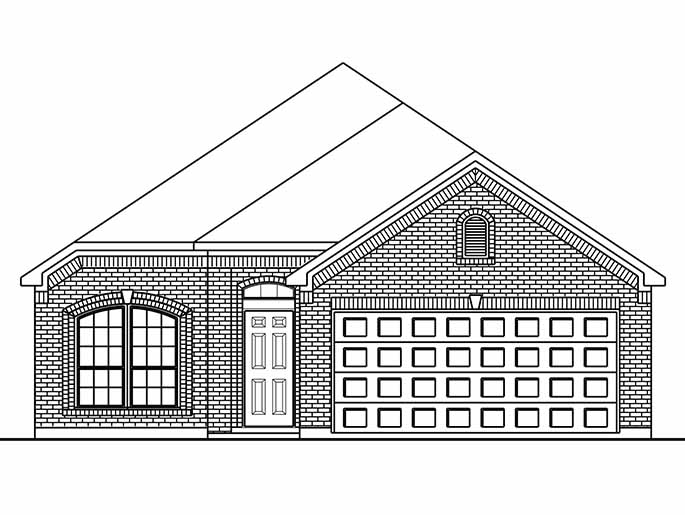 New Single-Story House Plans in Conroe TX | The Leeds at Cedar Woods ...