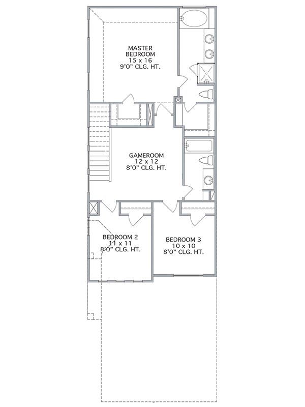 New 2 Story House Plans In Houston Tx The Parklane At