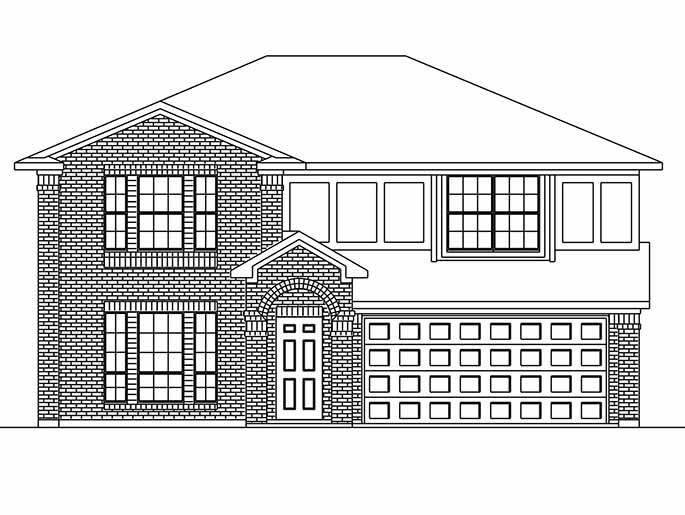 New 2 Story House Plans In Houston Tx The Redcar At Silverchase