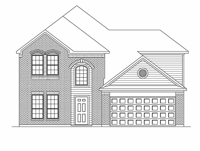 New 2-Story House Plans in Houston TX | The Sandown at Silverchase ...