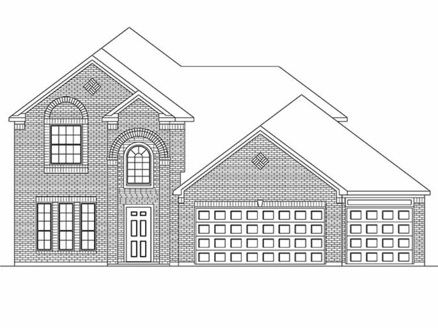 New 2-Story House Plans in Dayton TX | The Sandown at ...