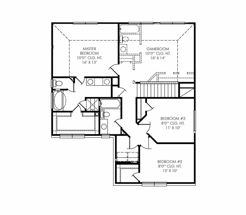The Coventry Floor Plan - Second Floor