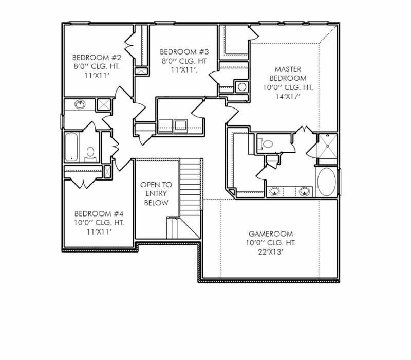 The Bristol Floor Plan - Second Floor