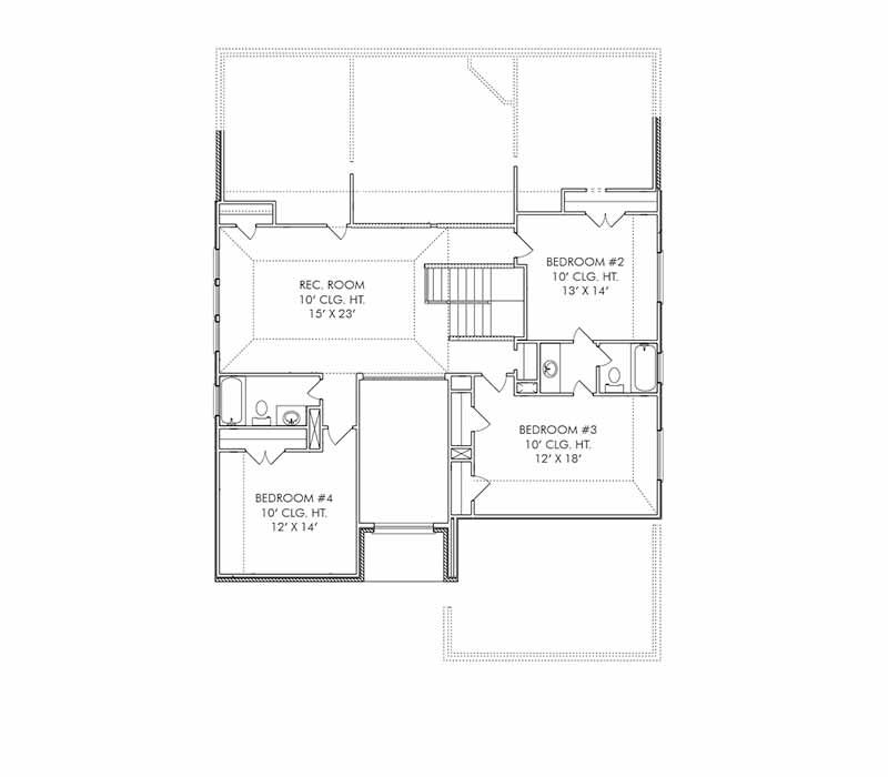The Cambridge Floor Plan - Second Floor