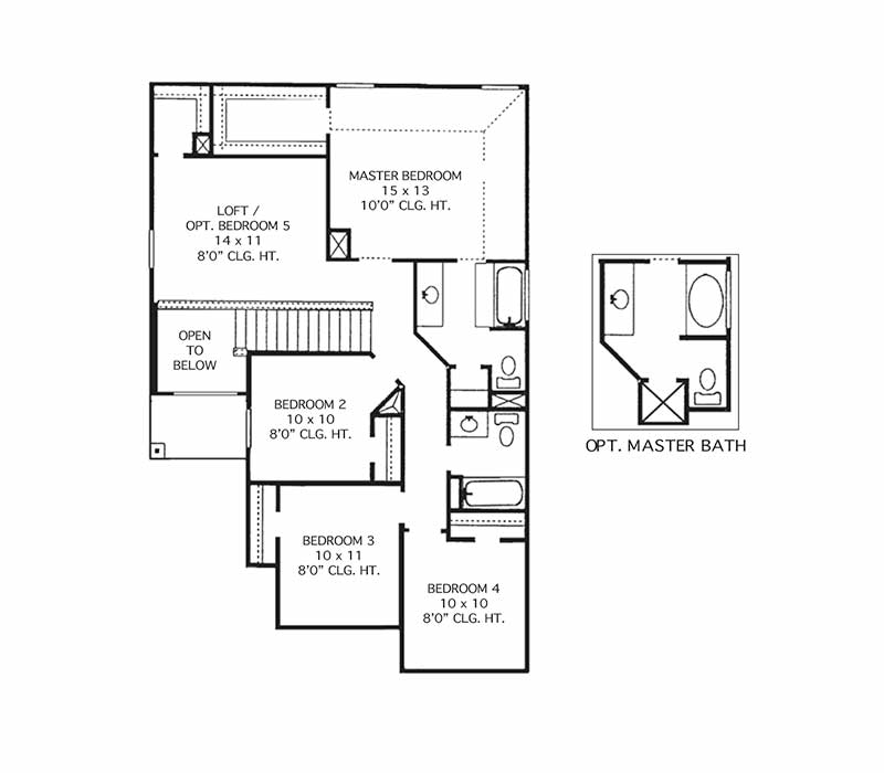 The Elgin Floor Plan - Second Floor