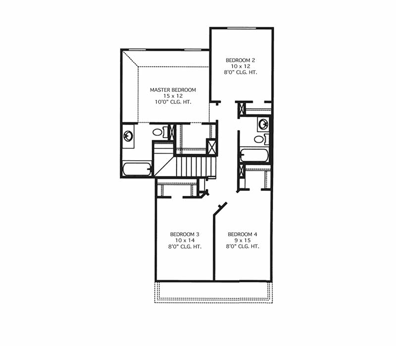 The Hamilton Floor Plan - Second Floor