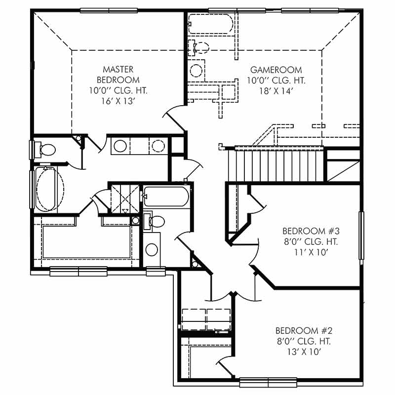 The Coventry Floor Plan - Second Floor - Resized