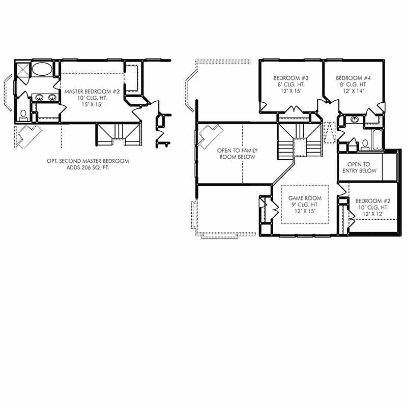 Chester Floor Plan - Second Floor - Optional Addition
