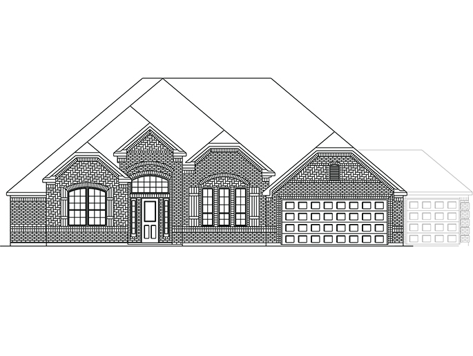 The Stanway  - Elevation B with Optional 4th Car Garage