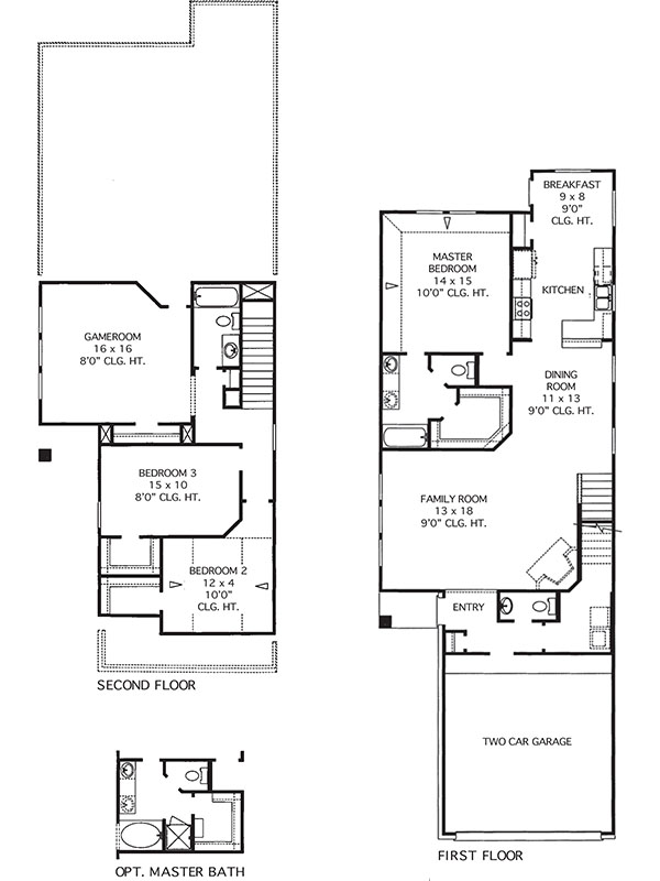 House plans the sterling at imperial trace in houston for Sterling plan