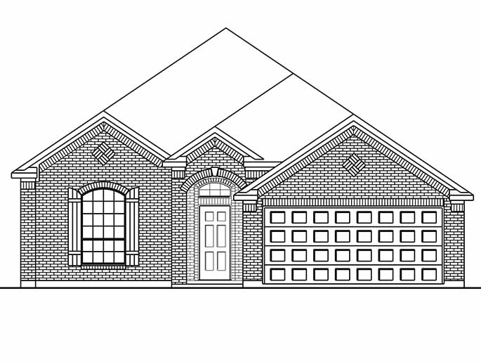 New Single-Story House Plans in Conroe TX | The Canterbury at ...