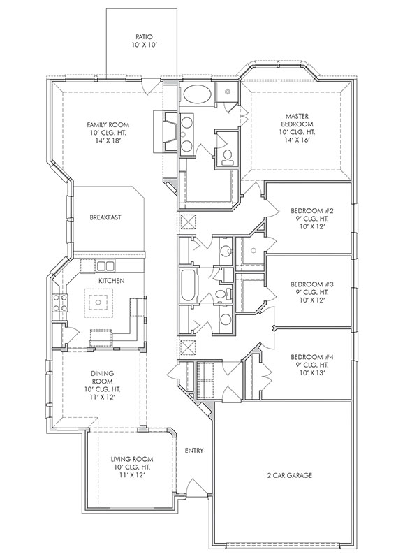 the reading a 4 bedroom 2 bath home in sterling lakes a reading floor plans