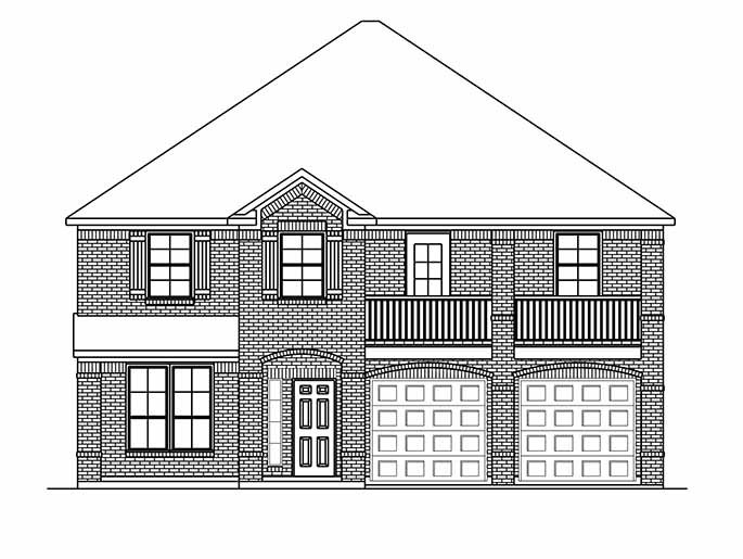 New 2-Story House Plans in Conroe TX | The Windsor at Cedar Woods ...