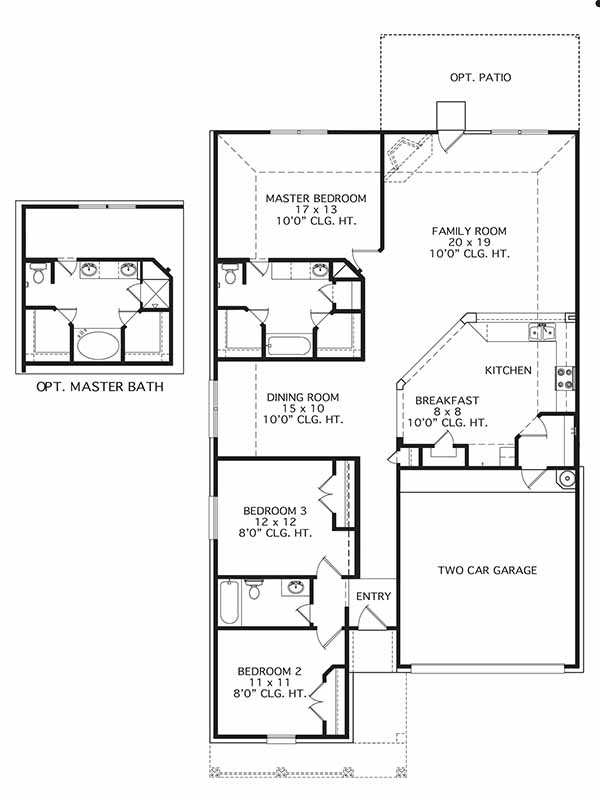 New Single-Story House Plans in Houston TX | The York at Silverchase ...