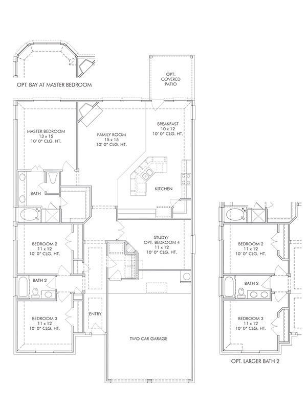 New single story house plans in brookshire tx the for The willow house plan