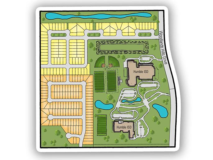 Master Plan Layout of Etteridge Community