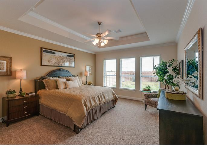 Master Bedroom with Bay Window Option (The Acton, Elevation B)