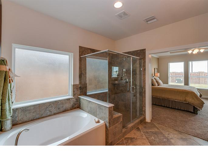 Master Tub and Shower (The Acton, Elevation B)