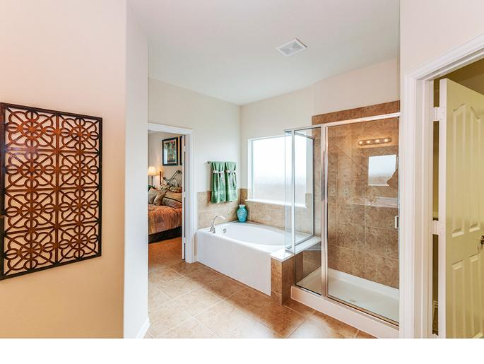 Master Tub and Shower (The Chester, Elevation B)