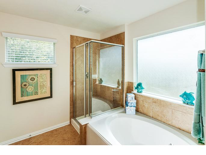 Second Master Tub and Shower (The Chester, Elevation B)